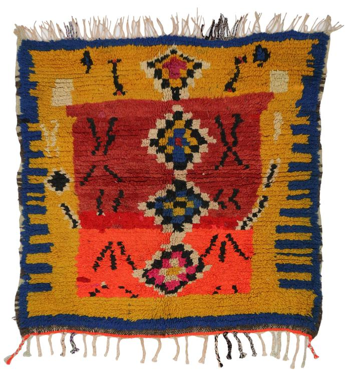 Vintage Berber Moroccan Rug with Tribal Design 5