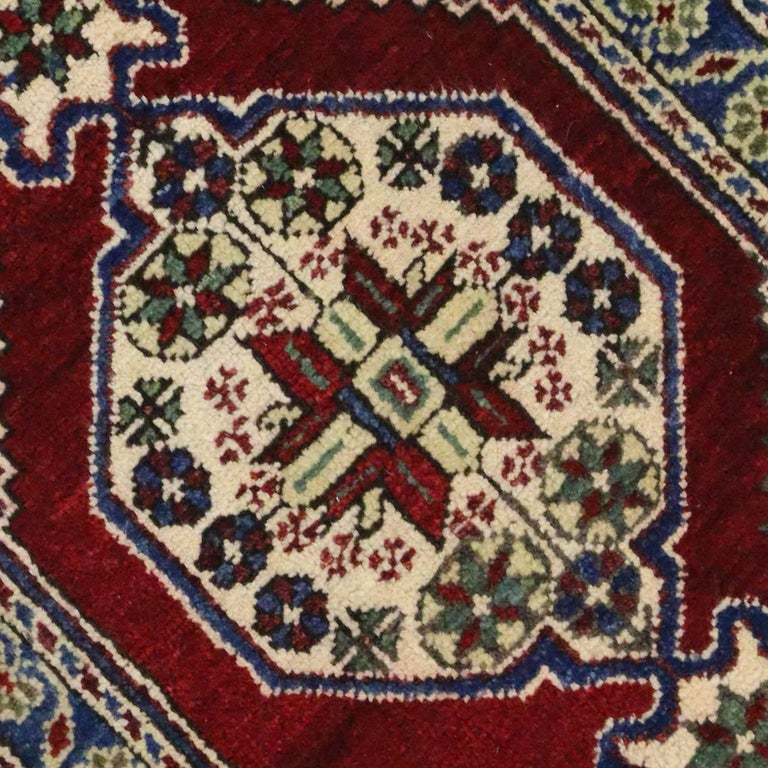 Turkish Yastik Rug: Vintage Yastik Turkish Rug With Modern Traditional Style
