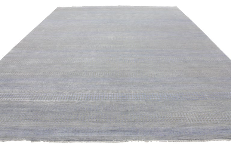 Transitional Rug With Grass Cloth Design And Modern Style