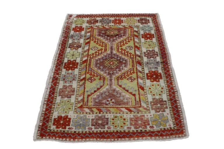 Foyer Rugs Sale : Vintage turkish oushak rug anatolian yuntdag foyer