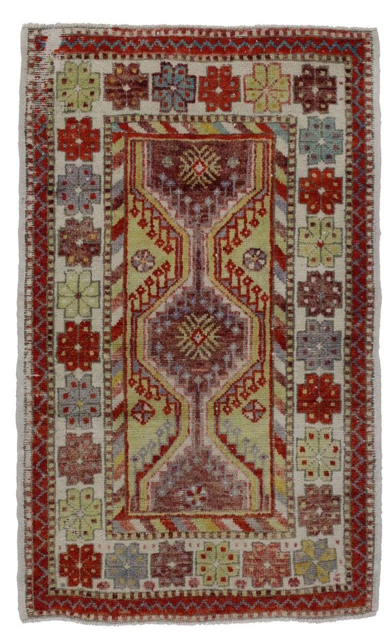 Foyer Rugs Sale : Vintage turkish oushak rug anatolian yuntdag foyer