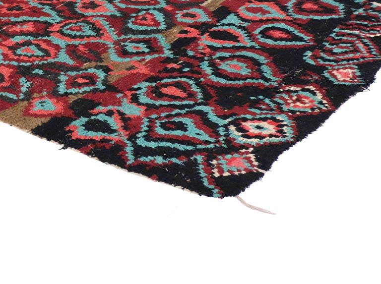 Vintage Moroccan Rug With Post Modern Memphis Style For
