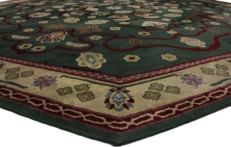 Vintage Edward Fields Octagon Rug With Retro Style From