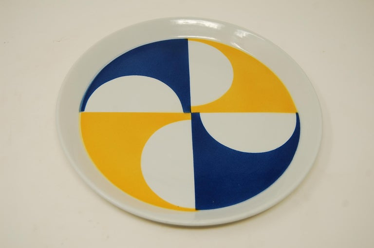 Rare set of ten plates designed by Gio Ponti as part of the