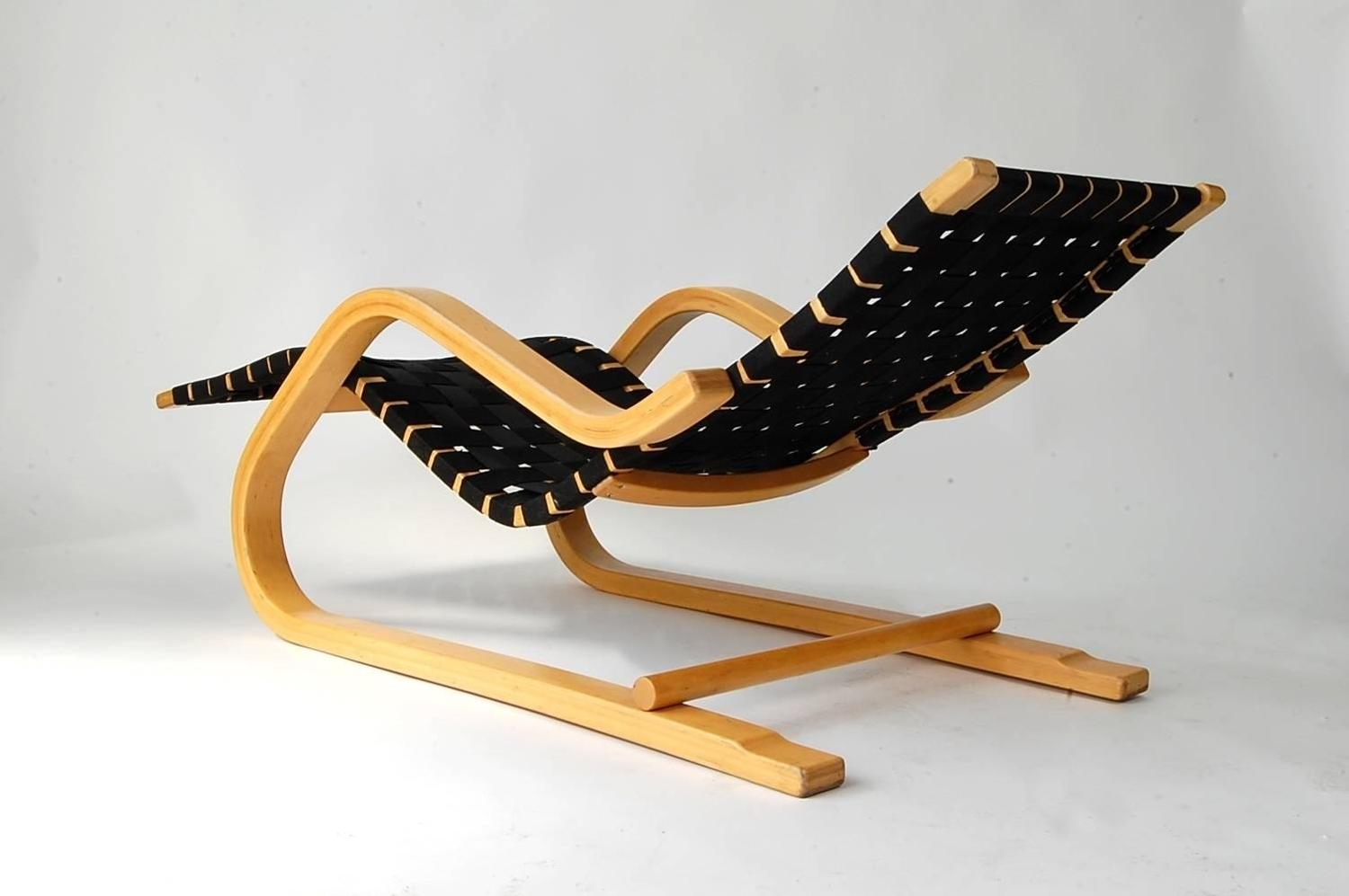Alvar aalto model 43 chaise lounge for sale at 1stdibs for Alvar aalto chaise longue