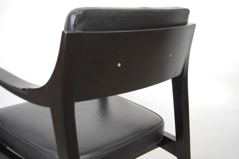 Pair of Dunbar Chairs in Black Leather For Sale 1