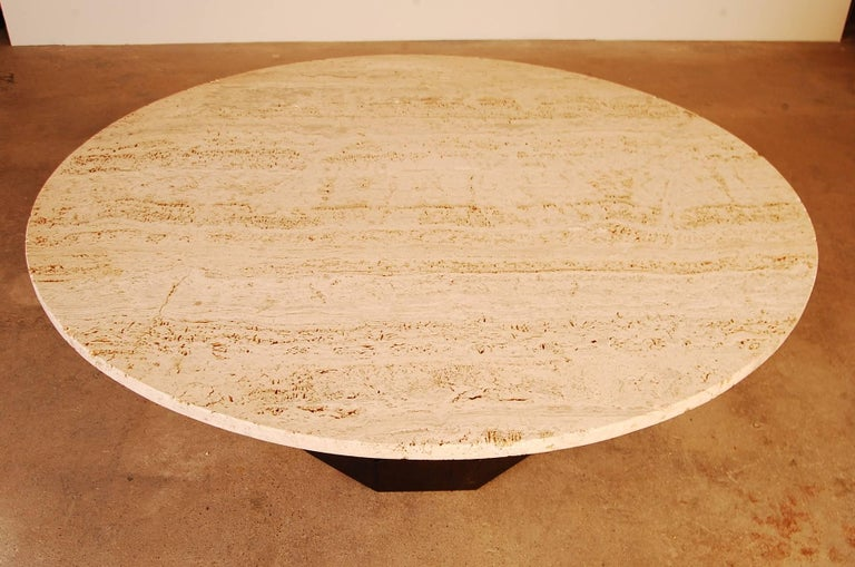 Mid-Century Modern Harvey Probber Travertine Top Cocktail Table For Sale