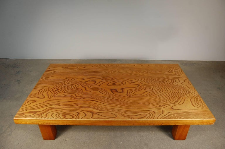Meiji Japanese Low Table in Elm For Sale