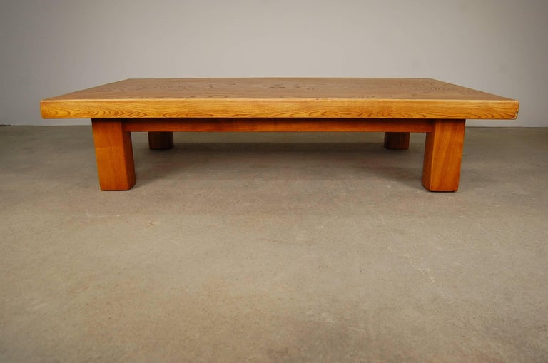 20th Century Japanese Low Table in Elm For Sale