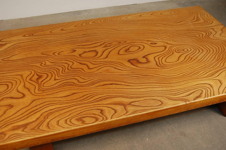 Japanese Low Table in Elm For Sale 2