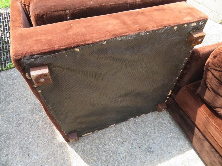 Huge Ten-Piece Milo Baughman Style Selig Sectional Sofa Mid-Century Modern For Sale 5