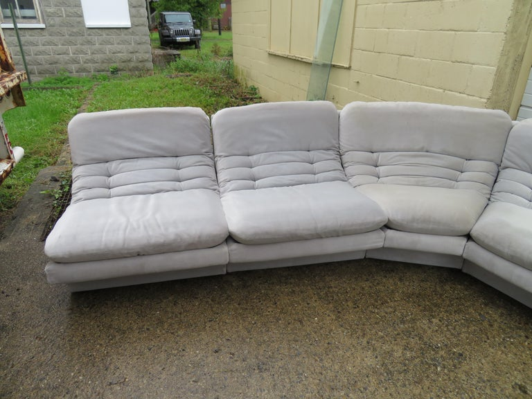 Phenomenal Wonderful Eight Piece Sectional Sofa Mid Century Modern Customarchery Wood Chair Design Ideas Customarcherynet
