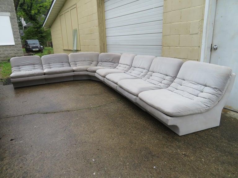 Pleasing Wonderful Eight Piece Sectional Sofa Mid Century Modern Customarchery Wood Chair Design Ideas Customarcherynet