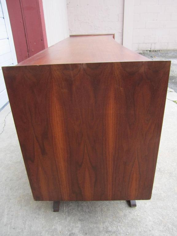 Mid-20th Century Fabulous Sculptural Walnut Credenza Mid-Century Modern For Sale