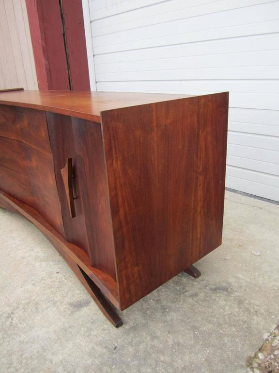 Fabulous Sculptural Walnut Credenza Mid-Century Modern For Sale 1