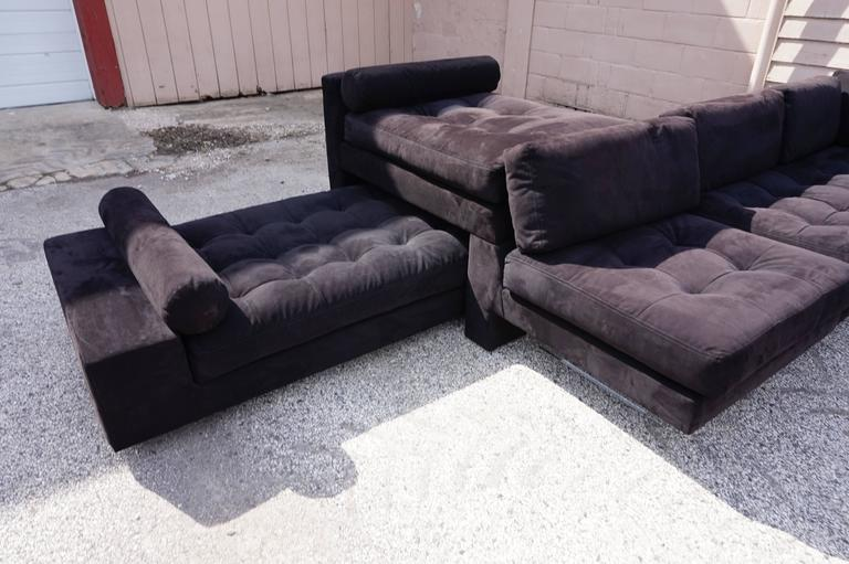 Excellent Vladimir Kagan Omnibus Five Piece Sectional Sofa This Fabulous Was Recently Reupholstered