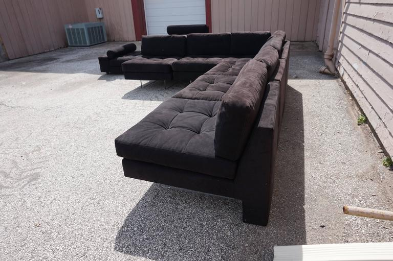 Excellent Vladimir Kagan Omnibus Five Piece Sectional Sofa For