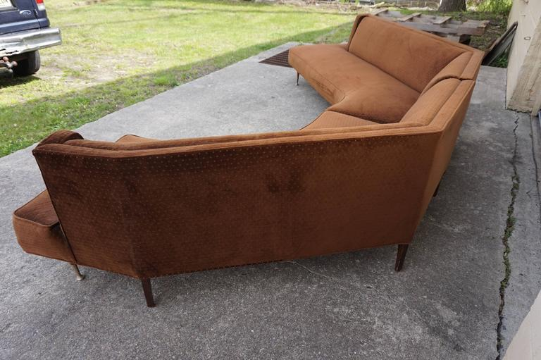 Gorgeous Harvey Probber Style Two Piece Curved Sofa Sectional Mid
