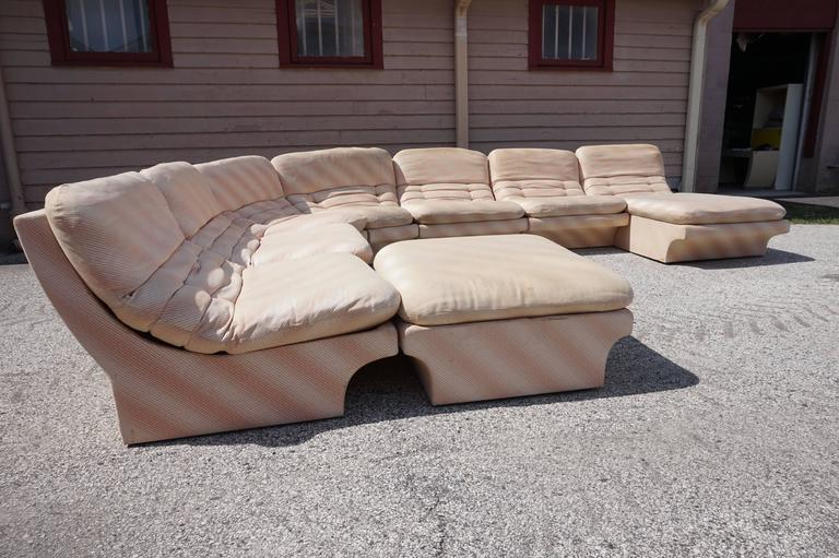 Charmant Awesome Eight Part Sectional Sofa By Preview In The Style Of Vladimir Kagan.  This Set