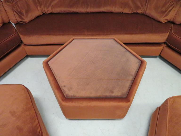 Spectacular Milo Baughman Style Octagon Sofa Sectional