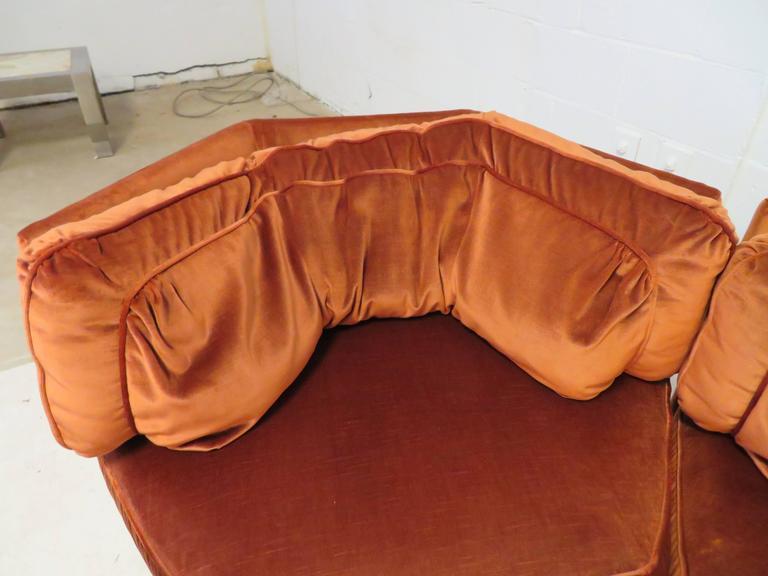 Rust Velvet Chaise