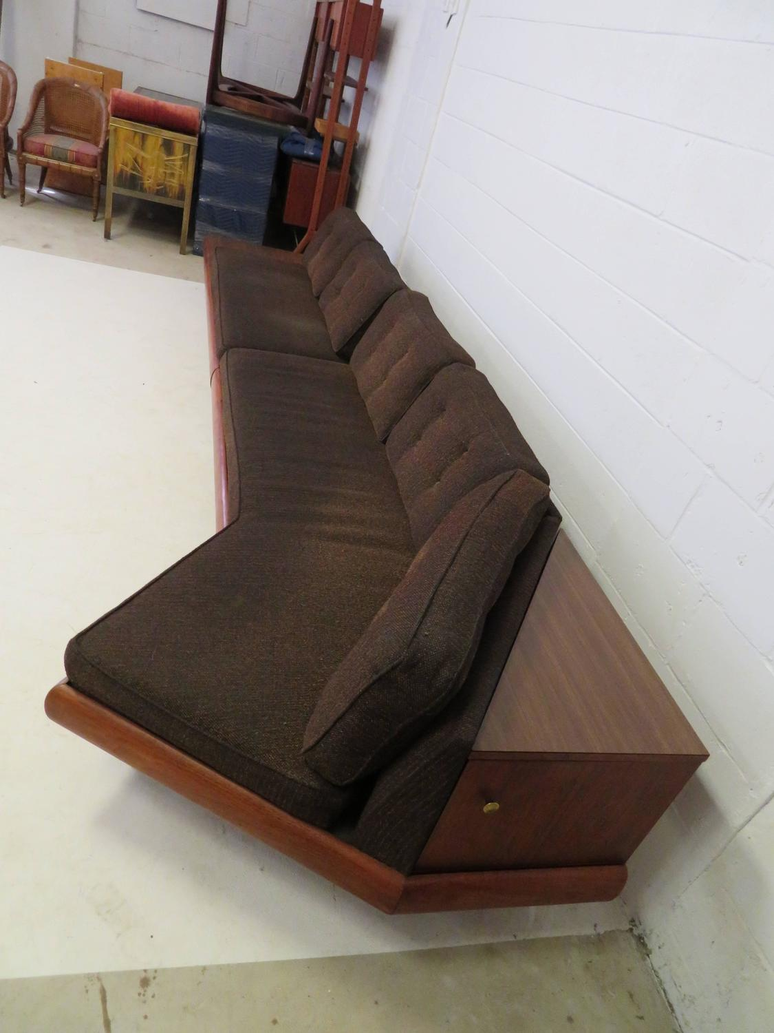 Unusual Two Piece Adrian Pearsall Sofa Sectional Boomerang