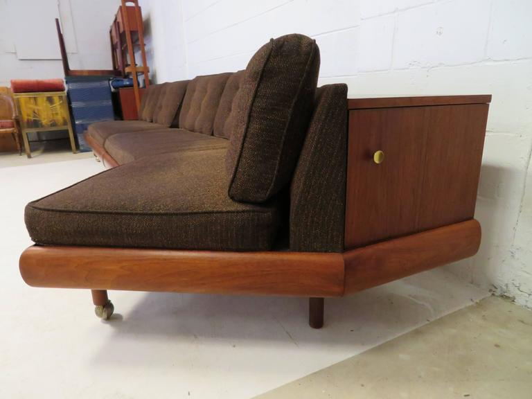 Unusual Two Piece Adrian Pearsall Sofa Sectional Boomerang Mid