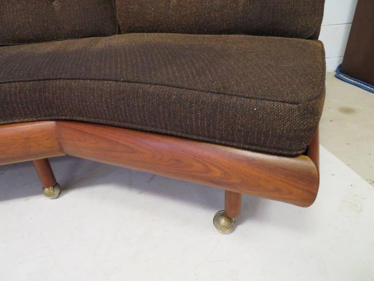 Unusual Two Piece Adrian Pearsall Sofa Sectional Boomerang Mid Century Modern For 4