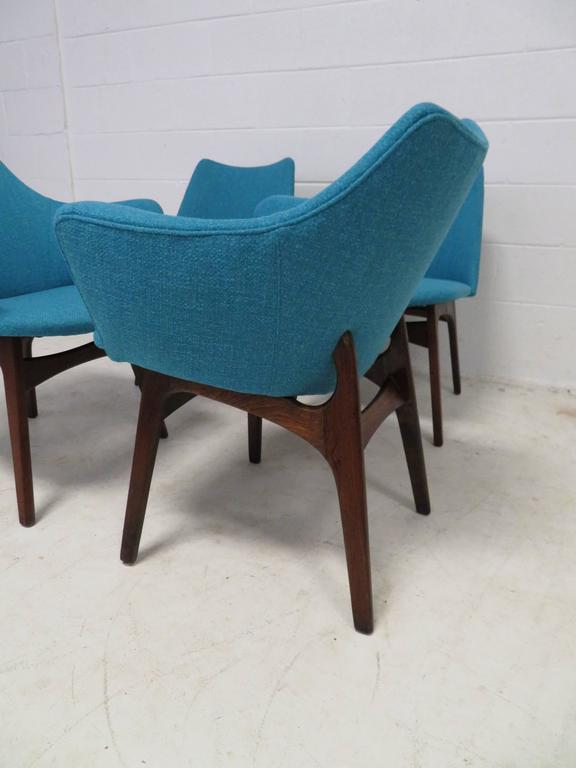 American Set of Four Adrian Pearsall Sculptural Walnut Dining Chairs For Sale