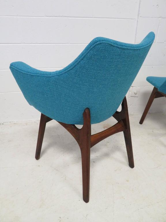 Set of Four Adrian Pearsall Sculptural Walnut Dining Chairs In Good Condition For Sale In Medford, NJ