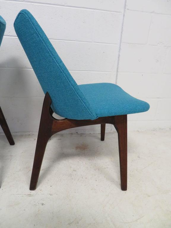Mid-20th Century Set of Four Adrian Pearsall Sculptural Walnut Dining Chairs For Sale