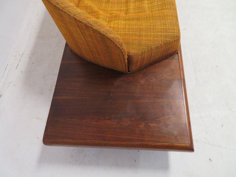 Upholstery Unusual Adrian Pearsall Boomarang Sculptural Walnut Sofa For Sale