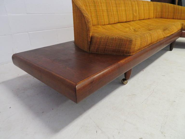 Unusual Adrian Pearsall Boomarang Sculptural Walnut Sofa For Sale 3