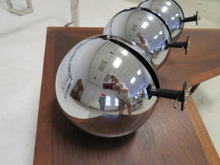 vintage track lighting. Fantastic Set Of Three Signed Lightolier Chrome Eyeball Track Lighting  Fixtures. The Is Not Vintage N