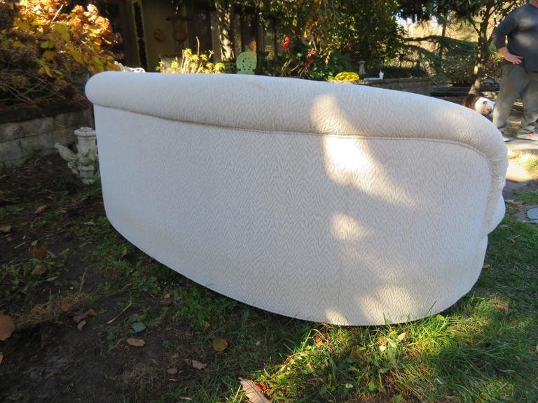 Hollywood Regency Excellent Pair of Kagan Style Kidney Shaped Sofas Mid-Century Modern For Sale