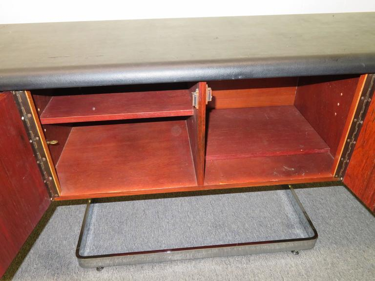 Fabulous Rosewood and Chrome Credenza by Ste. Marie & Laurent For Sale 1