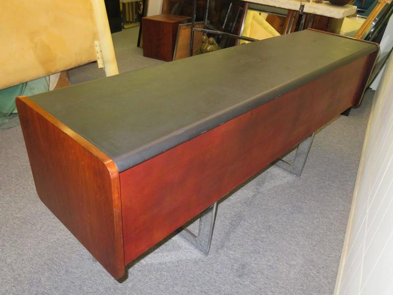 Fabulous Rosewood and Chrome Credenza by Ste. Marie & Laurent For Sale 2