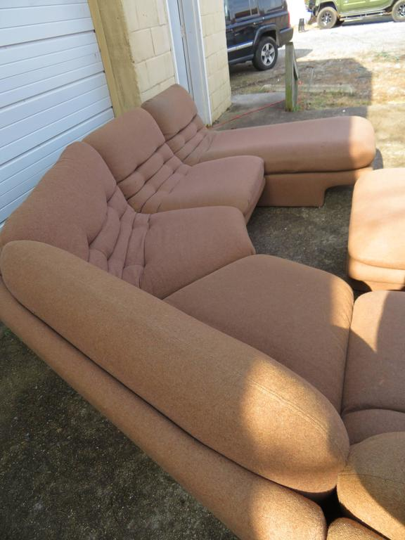 Mid-Century Modern Fantastic Six-Piece Sectional Sofa by Preview For Sale