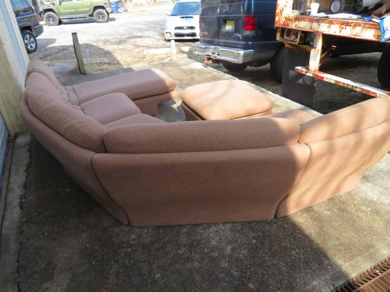 Fantastic six-piece Preview sectional sofa. This set will need to be re-upholstered but that's what you designers are looking for right? Great for that smaller space or add to a sectional from this collection you already have. As shown the set
