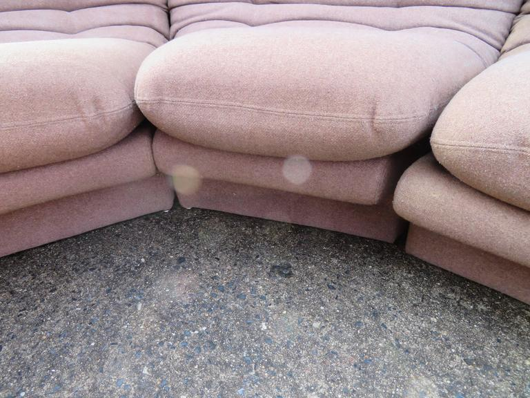 Late 20th Century Fantastic Six-Piece Sectional Sofa by Preview For Sale