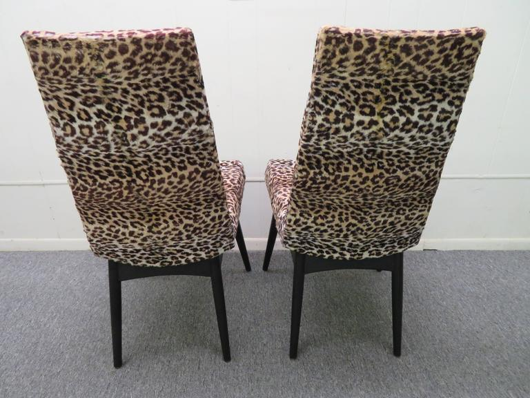 American Fantastic Set Four Adrian Pearsall Lacquered Dining Chairs Mid-Century Modern For Sale