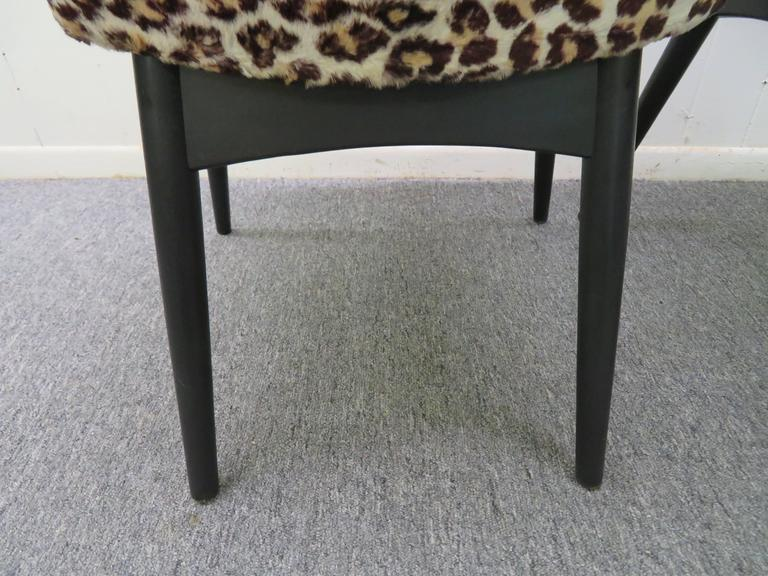 Fantastic Set Four Adrian Pearsall Lacquered Dining Chairs Mid-Century Modern In Good Condition For Sale In Medford, NJ