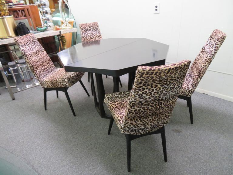 Fantastic Set Four Adrian Pearsall Lacquered Dining Chairs Mid-Century Modern For Sale 4
