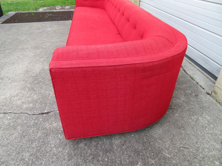 American Magnificent Adrian Pearsall Long Curved Sofa Mid-Century Modern For Sale