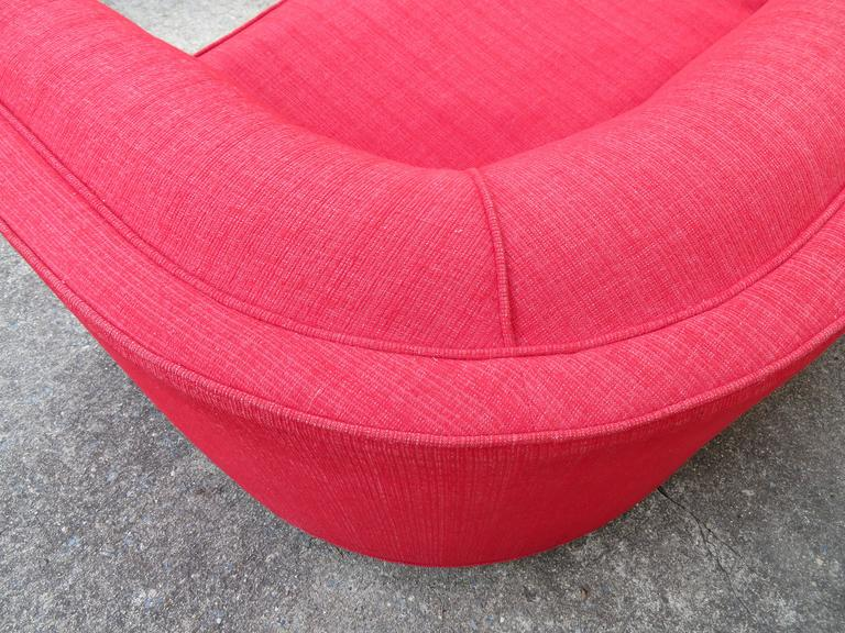 Magnificent Adrian Pearsall Long Curved Sofa Mid-Century Modern In Good Condition For Sale In Medford, NJ