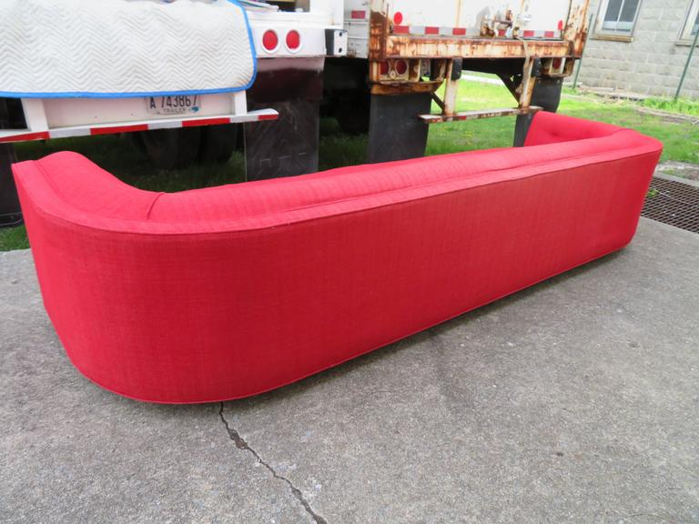 Magnificent Adrian Pearsall Long Curved Sofa Mid-Century Modern For Sale 1