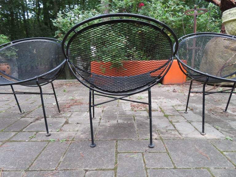 Patio Chairs Set Of 6: Set Of Six Maurizio Tempestini For Salterini Hoop Lounge