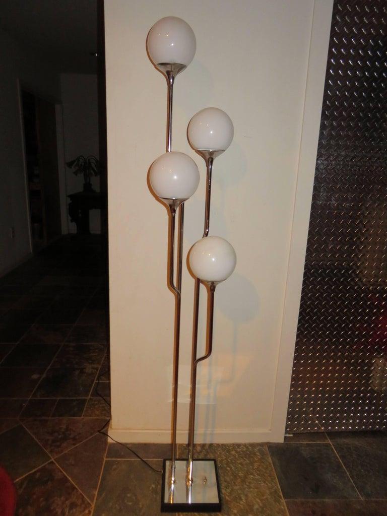 Stunning 1960s Italian Goffredo Reggiani Chrome Floor Lamp Mid-Century Modern For Sale 4