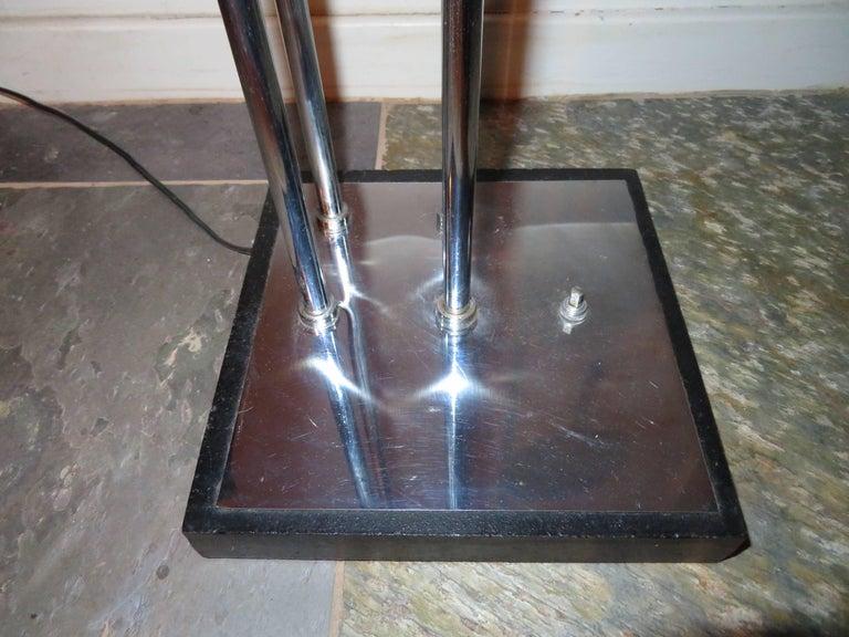 Stunning 1960s Italian Goffredo Reggiani Chrome Floor Lamp Mid-Century Modern In Good Condition For Sale In Pemberton, NJ