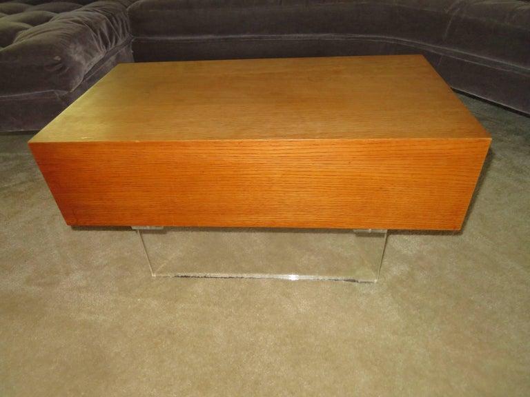 Mid-Century Modern Stunning Vladimir Kagan Three-Piece Omnibus Sectional Sofa Coffee Table For Sale